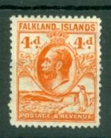 Falkland Is: 1929/37   KGV - Pictorial   SG120    4d     MH - Falklandinseln
