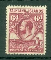 Falkland Is: 1929/37   KGV - Pictorial   SG121a    6d  Reddish Purple   MH - Falkland Islands
