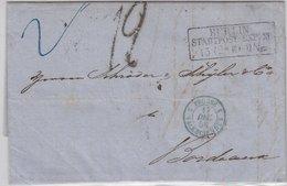 Preussen, Portobrief (2. Gew.st.) Berlin - Paris 1858, Mit Inhalt - Preussen