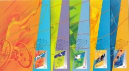 Australia 2000 Paralympic Games Set Of 5 Maximum Cards - Maximumkaarten