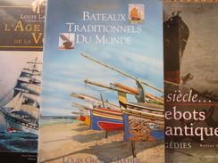 Marine  Paquebots Lot 3 Livres Lacroix Paquebots Et Traditions Monde Illustrations  Voir Photos - Books, Magazines, Comics