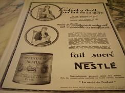 ANCIENNE PUBLICITE LAIT CONCENTRE SUCRE  NESTLE    1927 - Posters