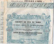 VP11.525 - Action - PARIS  - Chemin De Fer Du Nord Par LILLE - VALECIENNES - CALAIS - DUNKERQUE - CREIL - ST QUENTIN - Chemin De Fer & Tramway