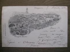 Carte Postale Lith. Olargues (Hérault) - 1900 - Litho Purch Castres - Autres Communes