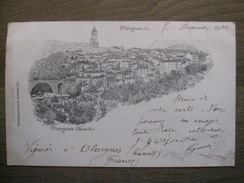 Carte Postale Lith. Olargues (Hérault) - 1900 - Litho Purch Castres - France