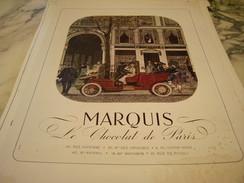 ANCIENNE PUBLICITE MARQUIS CHOCOLAT DE PARIS 1949 - Affiches