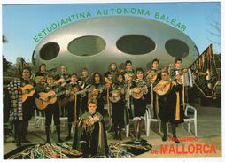 CPSM  MALLORCA         ESTUDIANTINA AUTONOMA BALEAR    CLASES DE BANDURRIA LAUD GUITARRA ACORDEON POR SOLFEO - Musik Und Musikanten