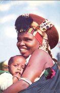 Afrique Du Sud - 1958 - Zulu Madona And Child - Artco Durban Nº 2 - Ecrite - - Afrique Du Sud