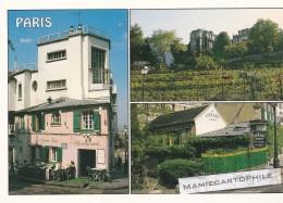 PARIS  - Montmartre : La Mason Rose - Les Vignes - Le Lapin Agile - Arrondissement: 18