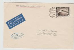 W-L010 / Zeppelin, 4 RM, 10.10.28 Nach Seattle,USA  Mit LZ 127 - Deutschland