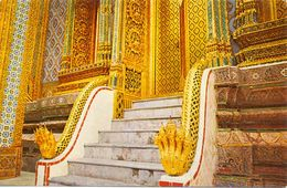 Thaïlande - Bangkok - Staircase Of Pasad Phra Deppitara In The Emerald Buddah Temple - Thaï Silpa - 2725 - Tailandia
