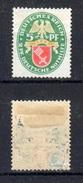 Deutsches Reich / DR 1928: MiNr. 430 * MH, Nothilfe Bremen, S. Scan - Germania