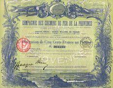 VP11.526 - Obligation - PARIS 1924 - Compagnie Des Chemins De Fer De La Provence - Chemin De Fer & Tramway