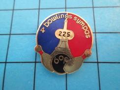 Pin513e Pin's Pins / Rare Et De Belle Qualité !! SPORTS / TOUR EIFFEL PARIS BOP 4 BOWLINGS SYMPAS - Bowling