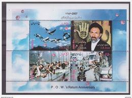 0332 Iran 2007 P.O.W. Prisoners Of War Return Anniversery S/S MNH - Iran