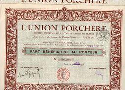 VP11.527 - Action - PARIS 1926 - L'Union Porchère - Agriculture