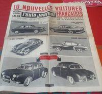 """L'Auto Journal N° 63 1 Octobre 1952 10 Nouvelles Voitures Françaises N° Spécial Salon Le Projet """"Dauphine"""" De Renault - Auto"""