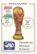 ITALIA - FDC MAXIMUM CARD 1989 - MONDIALI DI CALCIO - SPORT - ANNULLO SPECIALE - Maximumkarten (MC)