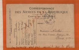CPA  CORRESPONDANCE DES ARMEES DE LA REPUBLIQUE  CARTE FRANCHISE   LAVAL     NOV  2017 511 - Marcophilie (Lettres)