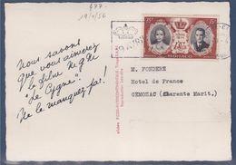 = Carte Postale Monaco Mariage Rainier III Et Grace Kelly 19.4.1956 N°477 - Storia Postale