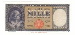 1000 LIRE ITALIA MEDUSA 15 09 1959 Q.FDS ASTA 1144 - [ 2] 1946-… : République