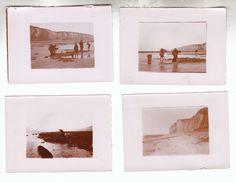 Vers 1910 - Veules-les-Roses (Seine-Maritime) - 4 Photos : Falaise, Moulière, Pêche Aux équilles - FRANCO DE PORT - Lieux