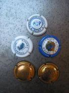 Lot De 5 Muselets VIII - Champagne