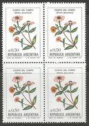 Argentina - 1985 Zinnia Block Of 4 MNH **   Sc1523 - Argentina