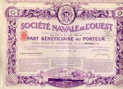 VP11.533 - Action - PARIS 1923 - Société Navale De L'Ouest - Transports