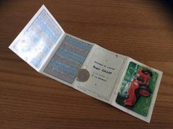 """Calendrier 1970 (4 Volets) """"BOUCHERIE Roger GILLET LA ROCHELLE (17) /Alfa Roméo 1934 (voiture)/ Signalisation Routière"""" - Calendars"""