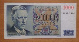 Belgium 1000 Francs Ef - [ 2] 1831-... : Belgian Kingdom