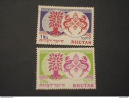 BUTAN - 1962 RIFUGIATI/serpenti-albero 2 VALORI - NUOVI(++) - Bhutan