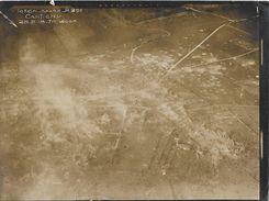 80 CANTIGNY BOMBARDE 1914-1918 RARE PHOTO ORIGINALE DE L'ESCADRILLE SPA 42 à 500 M LORS DE L' OFFENSIVE MICHAEL  28-5-18 - France