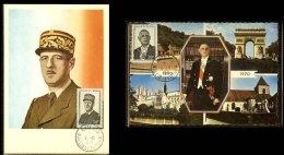 1971 - Wallis Et Futuna Max.Card Mi. 234-235 - Hommage Au Général De Gaulle [A40_107] - De Gaulle (Général)
