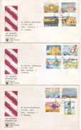 Malta 1991 - FDC Serie Ordinaria, 12v - Completa Su 3 Buste Con Annullo Speciale - Malta