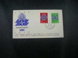 "BELG.1959 1094-95 FDC : "" OTAN - NAVO 1947 -1959 "" - FDC"