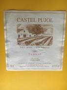 5201 - Castel Pujol 1991 Tannat Uruguay - Etiquettes
