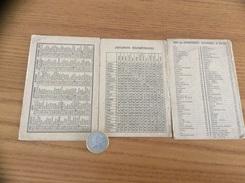 """Calendrier 1968 (3 Feuillets Détachés) """"DISTANCES KILOMÉTRIQUES DE VILLE À VILLE, CODE DEPARTEMENTS"""" - Calendars"""