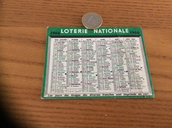 Calendrier 1966 « LOTERIE NATIONALE » - Calendriers