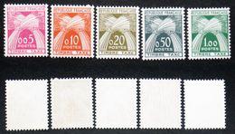 N° TAXE 90 à 94  GERBES DE 1960 TB Neuf N** Cote 70€ - Postage Due
