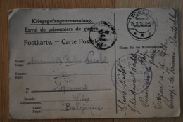 1112/ TORGAU A.d.Elbe-Alexis NICOLET S/Lieutenant D'Artillerie Prisonnier Camp De Zinna - Oorlog 1914-18