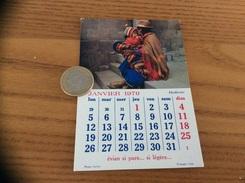 Calendrier 1970 (janvier), Chromo évian «Bolivie» - Calendars