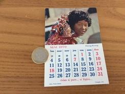 Calendrier 1970 (MAI), Chromo évian «HONG-KONG» - Calendars