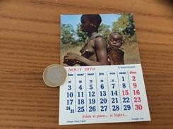 Calendrier 1970 (AOUT), Chromo évian «Cameroun» - Calendars