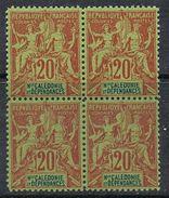 NOUVELLE-CALEDONIE N°47 N**  En Bloc De 4  Fournier - Neukaledonien