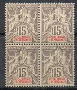 NOUVELLE-CALEDONIE N°61 N**  En Bloc De 4  Fournier - Neukaledonien