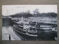 Carte Postale Suresnes - L'écluse - Marmuse Paris 93 - 1913 - Suresnes