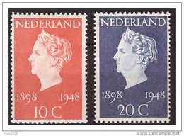 Nederland / Netherlands 1948 50 Year Queen Wlhelmina MNH - Periodo 1891 – 1948 (Wilhelmina)