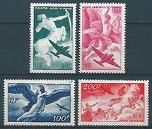 France (1946/47) Yv. Av. 16/19  /  Aircraft - Avion - Airplane - Flugzeug - Chevaux - Pferde - Horses - Airplanes