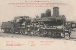 CV - TRAINS Belgique - Locomotive Express Pour Trains De Voyageurs (impeccable) - Trains